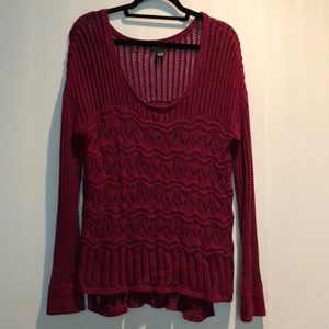 Lucky Brand red tunic sweater